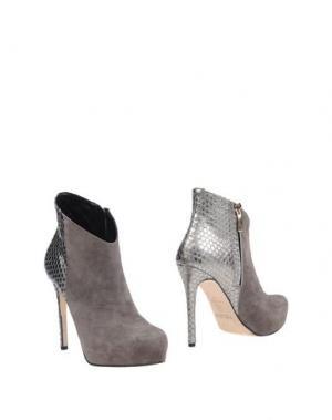 Полусапоги и высокие ботинки MI AMOR. Цвет: серый