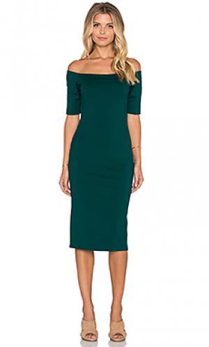Платье миди electra Amanda Uprichard. Цвет: зеленый