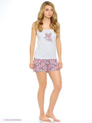 Комплект одежды Vienetta Secret. Цвет: малиновый, светло-серый