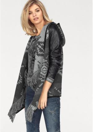 Куртка Laura Scott. Цвет: серый/черный