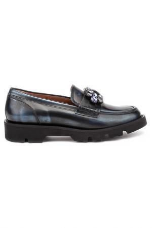Туфли закрытые Pertini. Цвет: темно-синий