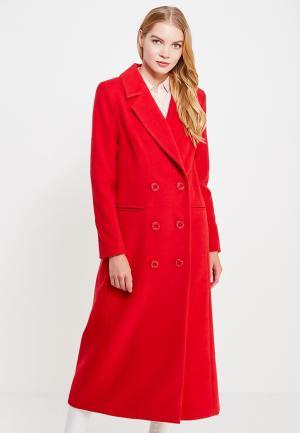 Пальто Bezko. Цвет: красный