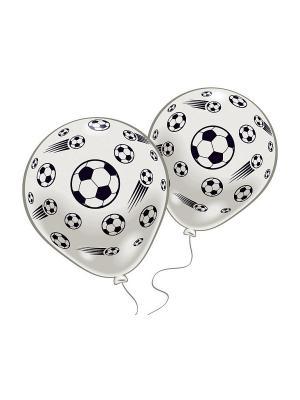 8 шариков с рисунком Футбол Everts. Цвет: белый
