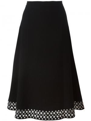 Декорированная юбка с люверсами Alexander Wang. Цвет: чёрный
