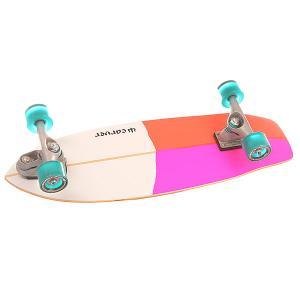 Скейт круизер  C7 Complete Firefly Assorted 9.5 x 30.25 (76.8 см) Carver. Цвет: белый,оранжевый,розовый