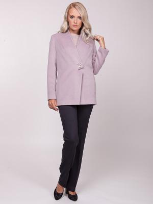 Пальто VLАDI Collection. Цвет: сиреневый, молочный
