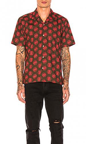 Рубашка camp Gitman Vintage. Цвет: оливковый