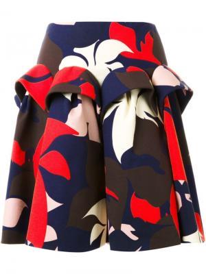 Юбка с цветочным принтом Delpozo. Цвет: многоцветный