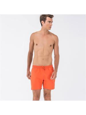 Бордшорты Lacoste. Цвет: оранжевый