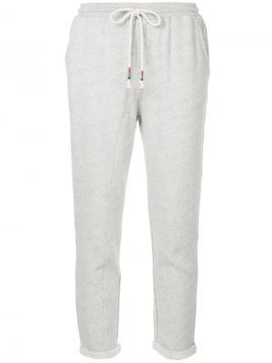 Укороченные спортивные брюки The Upside. Цвет: серый