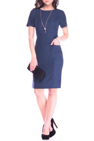 Платье Laura Bettini. Цвет: темно-синий
