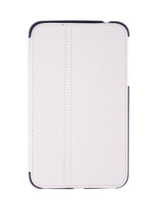 Обложка skinBOX stand style 2 для планшета Samsung T2100/2110. Выполнена из качественной экокожи.. Цвет: белый