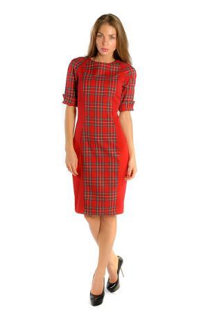 Платье LuAnn. Цвет: красный, клетка