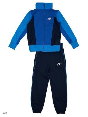 Спортивный костюм B NSW TRK SUIT PAC POLY Nike. Цвет: лазурный, черный