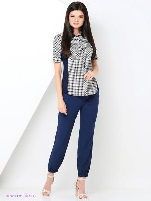Блузка HELMIDGE. Цвет: серый, белый, синий