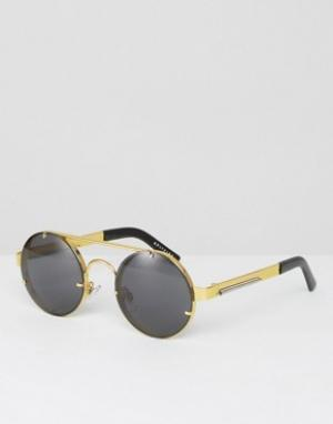 Spitfire Круглые солнцезащитные очки. Цвет: золотой