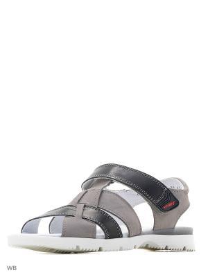 Туфли San Marko. Цвет: серый, черный