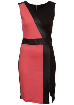 Платье Y.O.U.. Цвет: розовый/черный