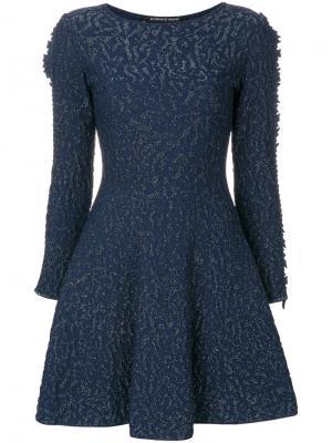 Embroidered fitted dress Antonino Valenti. Цвет: синий