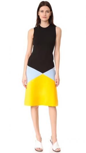 Платье без рукавов Taconic Novis. Цвет: черный/голубой/календула