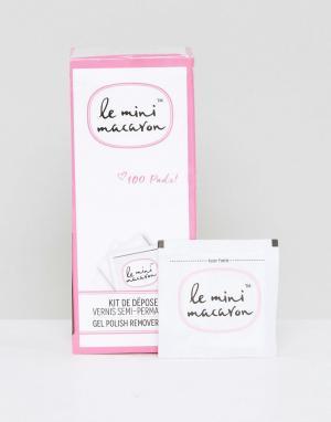 Le Mini Macaron 100 ватных дисков для снятия гелевого лака ногтей. Цвет: бесцветный