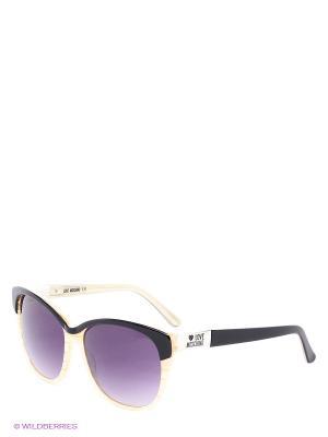 Солнцезащитные очки ML 517S 02 MOSCHINO. Цвет: фиолетовый, бежевый, черный