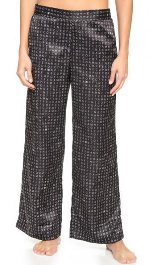 Широкие брюки Damn Fine Crossword Recliner. Цвет: кроссворд