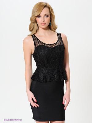 Платье Wow Couture. Цвет: черный