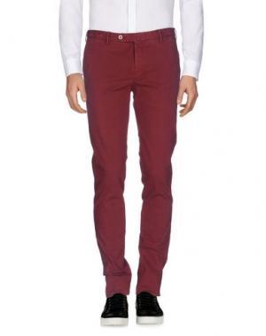 Повседневные брюки G.T.A. MANIFATTURA PANTALONI. Цвет: красно-коричневый