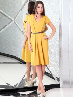 Платье Lussotico. Цвет: горчичный