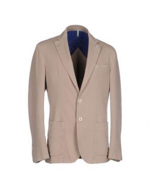 Пиджак DOMENICO TAGLIENTE. Цвет: голубиный серый