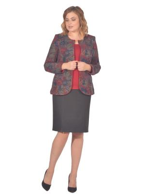 Жакет Томилочка Мода ТМ. Цвет: темно-синий, бордовый, темно-серый