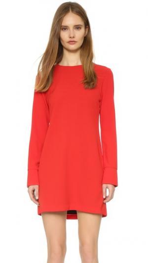 Свободное платье с длинными рукавами WAYF. Цвет: красный