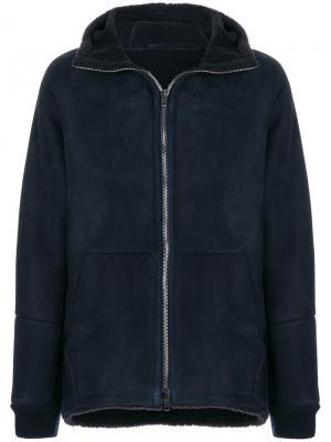Байкерская куртка на молнии Salvatore Santoro. Цвет: синий