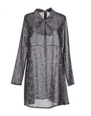 Короткое платье LA CAMICIA BIANCA. Цвет: свинцово-серый