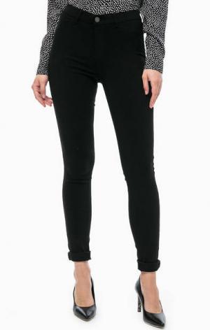 Черные брюки из вискозы b.young. Цвет: черный