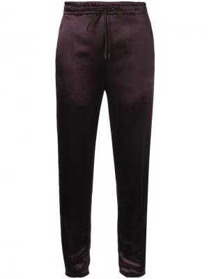 Cropped track pants H Beauty&Youth. Цвет: красный