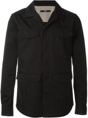 Куртка с карманами System Homme. Цвет: чёрный