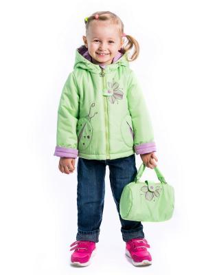 Куртка майя Аксарт. Цвет: салатовый, фиолетовый