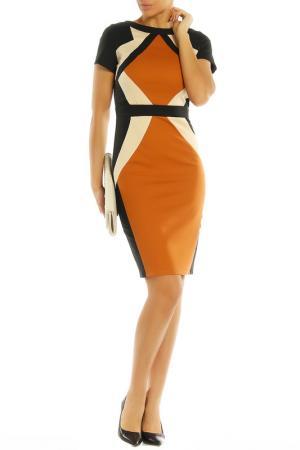 Платье PAPER DOLLS. Цвет: camel, black, beige