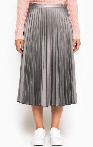 Серебристая плиссированная юбка Glamorous. Цвет: серебряный