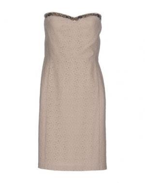 Короткое платье GRAHAM & SPENCER. Цвет: бежевый