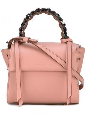 Мини сумка-тоут Angel Sensua Elena Ghisellini. Цвет: розовый и фиолетовый