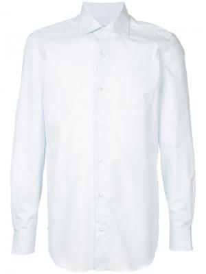 Классическая рубашка Estnation. Цвет: синий