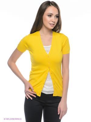 Кардиган Oodji. Цвет: желтый