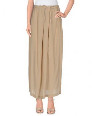 Длинная юбка OTTOD'AME. Цвет: песочный