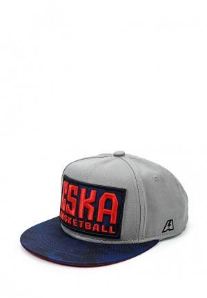 Бейсболка Atributika & Club™. Цвет: серый