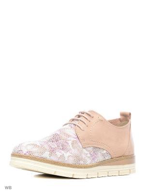 Ботинки Marco Tozzi. Цвет: бледно-розовый, розовый, белый