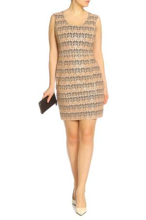 Приталенное платье-мини Drome. Цвет: бежевый