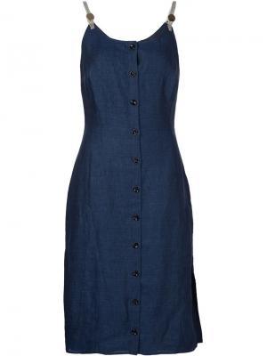 Платье с застежкой на пуговицы Altuzarra. Цвет: синий